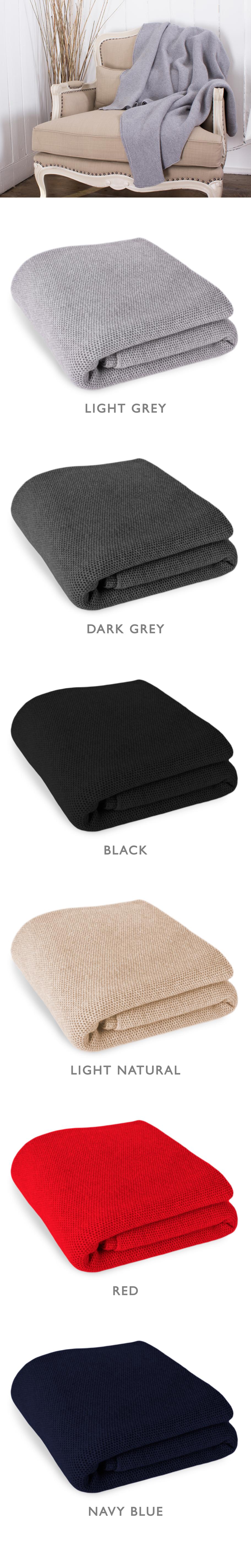 Waffle Stitch 100% Cashmere Blanket Throw - King    made in Scotland ... 9225b3c53