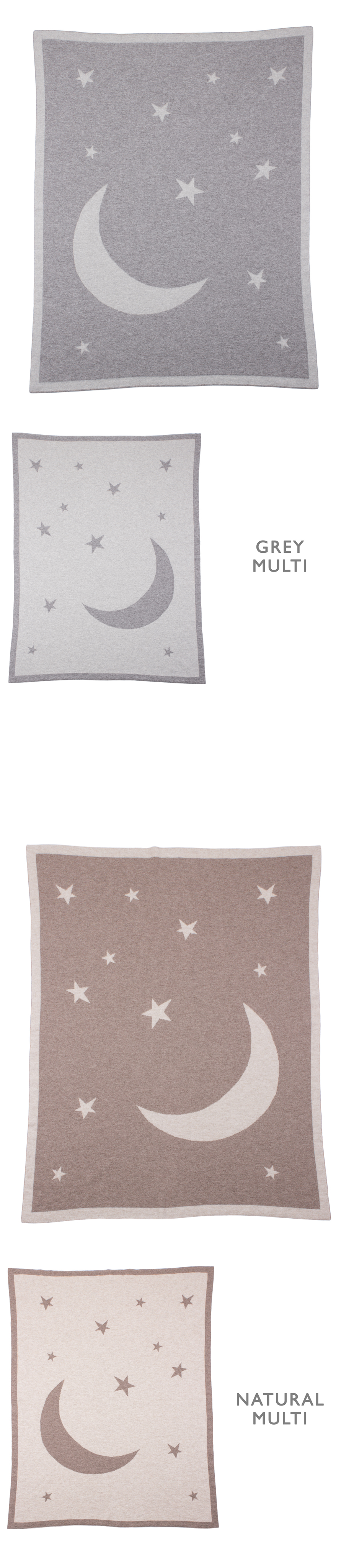 Moon   Stars 100% Cashmere Baby Blanket    made in Scotland by Love ... 17be4649b