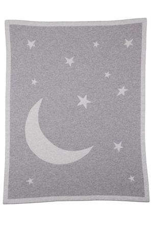Moon & Stars Cashmere Baby Blanket
