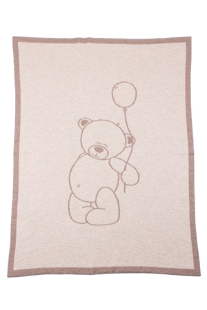 Teddy Bear Cashmere Baby Blanket