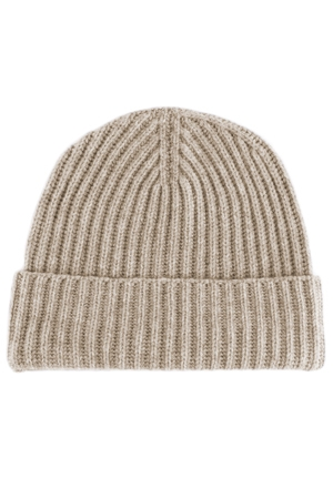 Classic Ribbed Cashmere Beanie